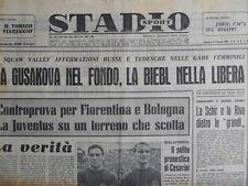 STADIO - Quotidiano Sportivo 21-02-1960 - Bologna Fiorentina  [G44]