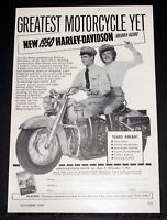 1950 OLD MAGAZINE PRINT AD, NEW 1950 HARLEY-DAVIDSON, GREATEST MOTORCYCLE YET!