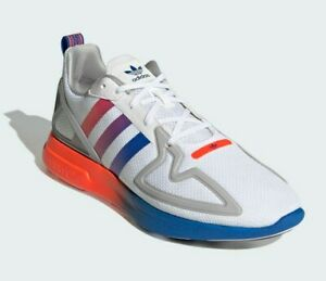 Adidas ZX 2K Flux Men's Shoes Size 10 Cloud White Blue Boost Running Trainers