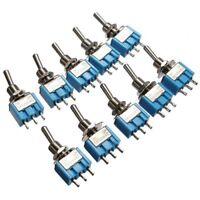 Miniature Mini AC 125V 6A 5Pcs 3 Pins Toggle Switch 2 Position SPDT