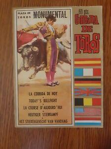 Vintage Bullfighting Programme