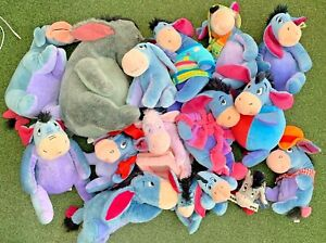 Various Eeyore from Winnie the Pooh plush / soft toys - Multi Listing - Free P&P
