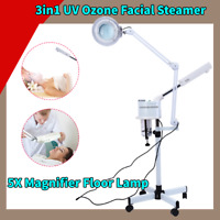3in1  Ozone Facial Steamer LED 5X Magnifier Floor Lamp Multifunction
