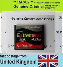 Original SanDisk Extreme III 4 GB Compact Flash Card CF card  4GB CF memory card