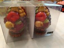 Vintage Collectible Style-Eyes Baum Brothers Fruit Basket Salt & Pepper Shakers