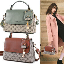Woman Purses Cute Shoulder Handbags PU Top Handle Satchel Crossbody Bag Pendant