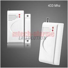 Détecteur ouverture Sans fil Alarme Maison GSM/RTC 433MHz