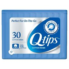 New Q-tips Purse Pack Cotton Swabs 30 Ct Travel Size