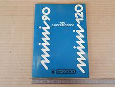 MANUALE ORIGINALE 1978 USO MANUTENZIONE INNOCENTI MINI 90 120 NORMALE ED SL