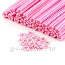 3x-fatto a mano pinkflower canes nail art (dnc62)