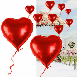 20x Valentine's Day Red Heart Love Foil Helium Balloons Wedding Party Decration