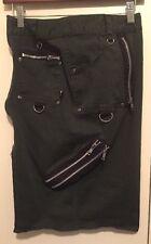 Dogpile Pencil Skirt Emu Goth Punk Rock Size M Olive Green