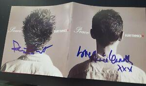 "EURYTHMICS ""PEACE"" SIGNED BY ANNIE LENNOX & DAVE STEWART COA"