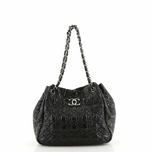 Chanel Rock in Moscow Accordion Tote Patent Vinyl Medium