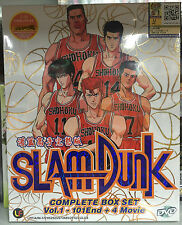 Anime DVD: Slam Dunk Complete_1-101 End + 4 Movie_Good English Sub_FREE SHIPPING