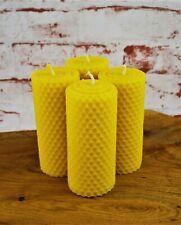 4 Bienenwachskerzen Stumpenkerze...
