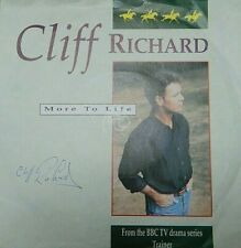 """CLIFF RICHARD ORIGINAL AUTOGRAPH SIGNED on 7"""" PROMO RECORD SLEEVE + RECORD"""
