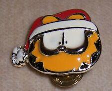 Garfield SANTA Face Pin NEW!