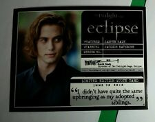 TWILIGHT ECLIPS JASPER SAME UPBRINGING ADOPTED SIBLINGS LMT EDITION QUOTE CARD