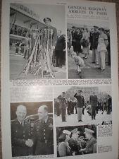 Photo article US supreme commander General Ridgway in Paris 1952 refO50s