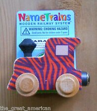 Name Train Tiger Engine - Thomas Compatible Wooden Wood Toy Toys Made in USA