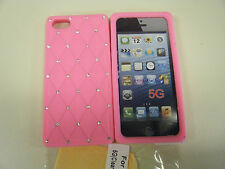 iPhone 5 5s Bling Bling Crystal Diamond Grid Silicone Back Case Skin Cover