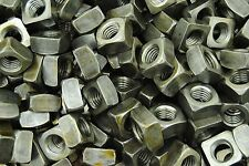 (75) Unplated 5/8-11 Square Nuts - Coarse Thread - Plain Steel