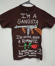 Kids Algierz Gear sz Small Tshirt Gangsta Boys Brown Z-Ro Guns Roses Houston