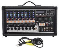 Peavey Pvi8500 400 Watt 8-Channel Powered Live Sound Mixer w/ Bluetooth