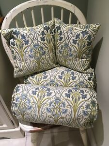 Tiffany Prussian Blue  Complete Bolster Cushion ABSOLUTELY STUNNING! TIFFANY