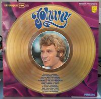 "Rare LP "" le disque d'or de "" JOHNNY HALLYDAY vol 2 ( EX/EX )  OR.B.i.e.m 1968"
