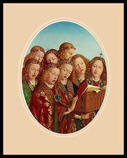 Jan van Eyck Die singenden Engel Poster Bild Kunstdruck im Alu Rahmen 50x40cm