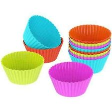25 Reusable muffin tins molds in 6 colors of high quality silicone | 5 Colours |