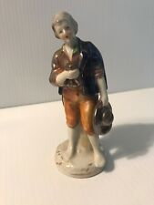 Ceramic Figurine Man With Hat And Cup Made In Occupied Japan