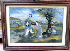 Ancienne peinture indienne sur verre peintre chinois Inde du Sud 19e