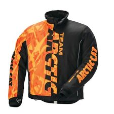 New Arctic Cat Team Pro Snowmobile Jacket ~ Orange/Black ~ Large ~ # 5280-274