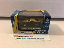 Hot Wheels * Custom '67 Mustang * Gold/Black * 1/87 Scale in Acrylic Case * h39