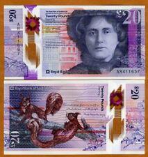 Scotland Royal Bank of, 20 pounds 2019 (2020) P-New POLYMER UNC > Kate Cranston