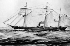 New 5x7 Civil War Photo: CSS ALABAMA, Confederate Sloop-of-War Battle Ship