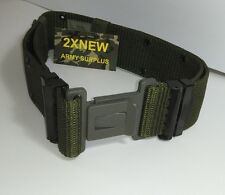 NEW MILITARY BELT SURPLUS ARMY USMC GREEN PISTOL WEB UTILITY BELT MEDIUM