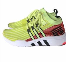 Adidas EQT Support Mid Adv 91-18 Mens B37436 Glow Turbo Primeknit Shoes 10.5