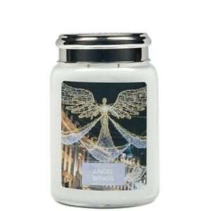 Village Candle Double Wick Large Candle Jar - Angel Wings *Christmas Fragrance*