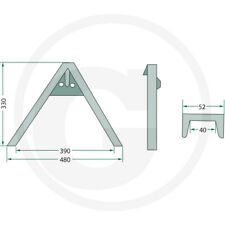 More details for quick hitch a frame municipal rear linkage adapter implement   !!!! inc vat