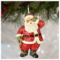 Bethany Lowe Santa Claus w/ Bells Christmas Tree Ornament Retro Vntg Style Decor