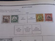 4 Different 1900 Kiautschou China-German Colony Postage Stamps/Used/Hinged