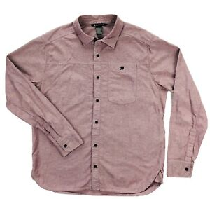 Black Diamond Equipment Red Chambray Modernist Shirt Mens XL Long Sleeve