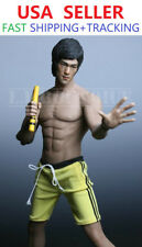 Custom 1/6 BRUCE LEE Nunchakus w/ PHICEN M32 Seamless Muscular MALE Body