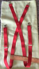 Red Suspenders Braces 1 Inch Wide Elastic
