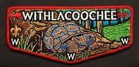 WITHLACOOCHEE OA LODGE 98 BSA SOUTH GEORGIA COUNCIL GA SILVER MYLAR TURTLE FLAP