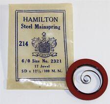 Pocket Watch Nos Mainspring Ly743 Hamilton Mainspring 6/o Wrist /